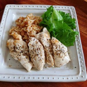 【FODMAP控えめ】しっとり 鶏むね肉の酒蒸し【低GI・低GL】(10min)