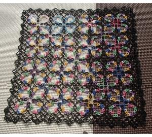 オニオンリングのマジックスクエアの縁編み
