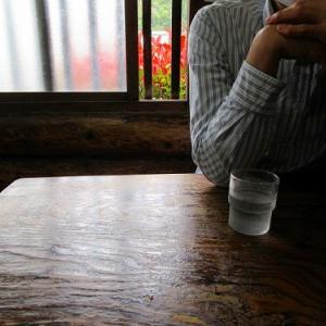 丸太小屋でラーメン