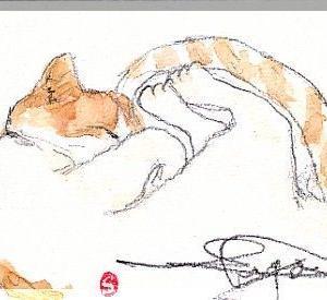 石ころに猫を・・・・