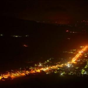 橇負山からの夜景