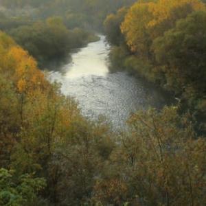 霜の朝1)羊蹄山と尻別川