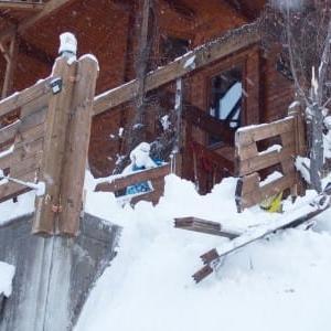 屋根からの落雪その2)
