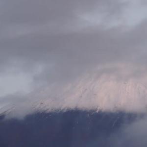 再び真っ白な富士
