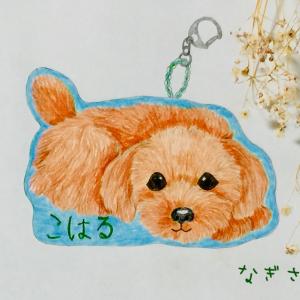こはるちゃんの刺しゅうのバッグチャーム☆オーダー品