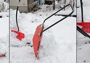この冬最初の雪かきで、ママさんダンプ最後の働き