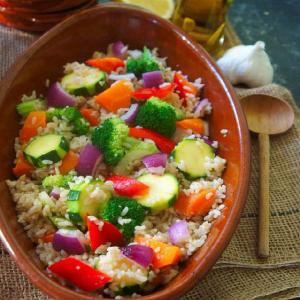 レシピコンテストで受賞★玄米ってこんなにおいしい!NYデリ春野菜具だくさんサラダ