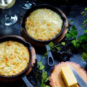 魚焼きグリルで簡単クリームビシソワーズ風のチーズグラタン