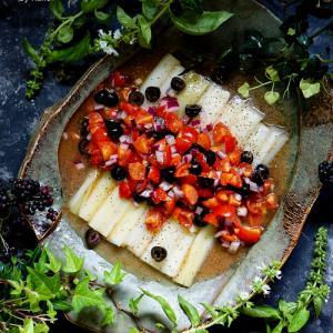 福島県産ねぎとトマトサルサのマリネサラダ