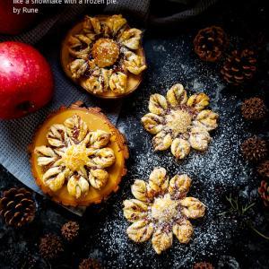 クリスマスに♪簡単♪冷凍パイのクリスタルスノーアップルパイ