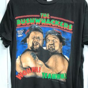 90年代 古着 wwf ザ・ブッシュワッカーズ The Bushwhackers Tシャツ