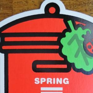 ポスト型カード「SPRING」のコラージュ・2種