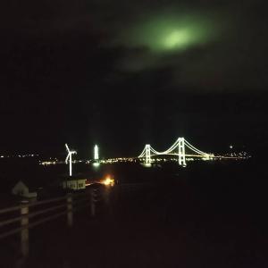 室蘭の夜景&白鳥大橋。