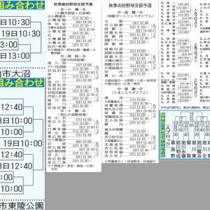 第78回秋季北海道支部予選大会の組み合わせが決定しました。