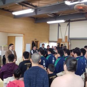 2020年 野村高校相撲部の初稽古に参加!