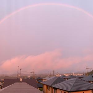 大きな虹が目の前に♪ 変化の時かな