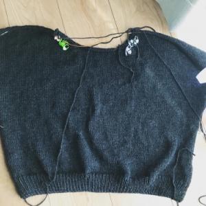 【編んでいるもの】哲学者のセーター