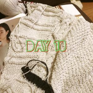 【編んでいるもの】プルオーバー【Day10】