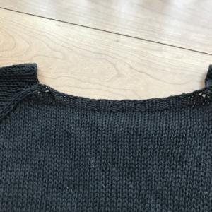 【完成したもの】トップダウンで編むラグランセーター
