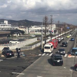 仙台西道路で事故