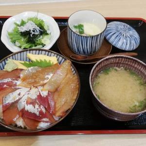 海鮮酒場 いえもん【本日の魚料理定食:真鯛とイナダの づけ丼】