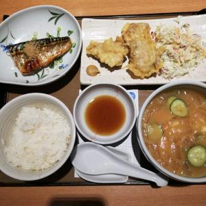ごはん処 やよい軒 川崎駅西口店 【冷汁と とり天の定食】
