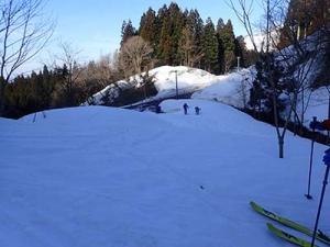 護摩堂山を滑る!