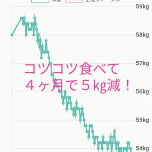 ストレス解消がお上手なKさんのグラフ【モデル体型ダイエット塾】