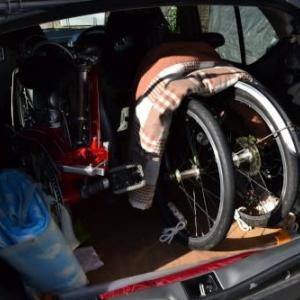 アルトワークス5AGSに折りたたみ自転車を積んで敦賀市散策