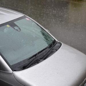 朝から雷を伴った激しい雨です