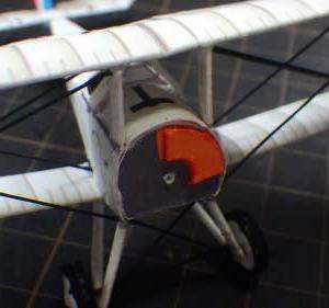 """フリーのペーパクラフト-複葉機-Nie-17 """"Lou Camel""""を作ってみる-その3"""