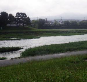 雨が途切れたときに自転車で出勤