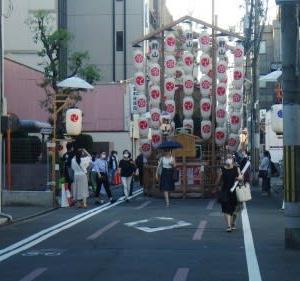 祇園祭の後祭の山をちょいと見てきた