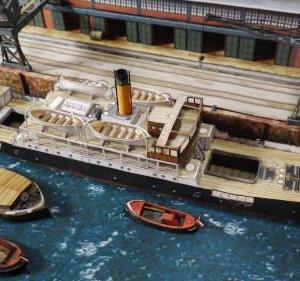 HMV 1:250 Hafen-Dioramaハンブルク港ジオラマ ペーパークラフトを作る-その11