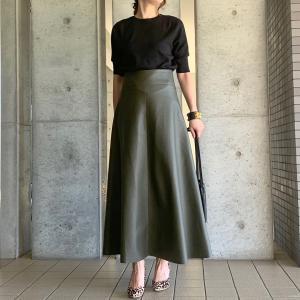 ☆マイナス3kg痩せて見える今年流行りのレザースカート☆