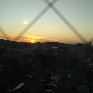 掛川の夕陽