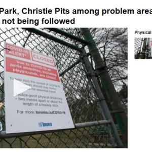 トロントの夜 4月5日  感染爆発の中でも公園に出かける奴が沢山!?