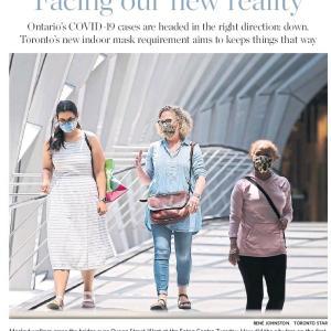 トロントの朝 7月8日  マスク着用義務化初日は!?