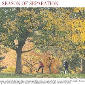 トロントの朝 10月23日 長い冬をどう乗り越えるか!?