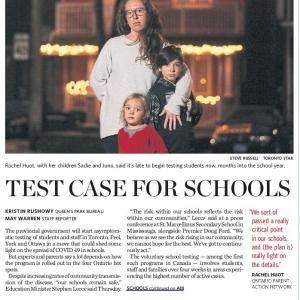 トロントの朝 11月27日 ホットスポットの学校で、無症状者検査開始!?