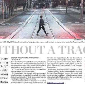 トロントの朝 11月28日 感染経路が追跡できない!?