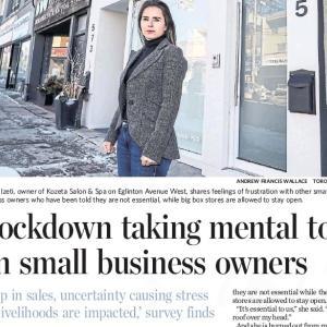 トロントの午後 12月3日 大手も中小も、ロックダウンはビジネスに致命的!?