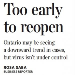 トロントの朝 1月26日 数日の感染者数が下がってもまだまだ!?