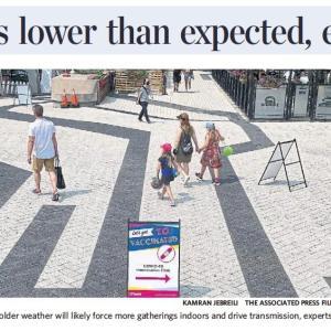 トロントの朝 9月 27日 感染減少傾向でもこれからの再拡大に警告!?