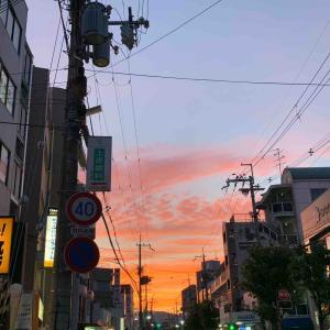 武庫之荘風景~今日の夕空