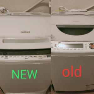 新しい洗濯機は無事設置されました