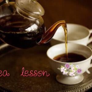 はじめての会場で紅茶教室