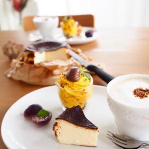自家製フレッシュチーズ de バスクチーズケーキ。。。