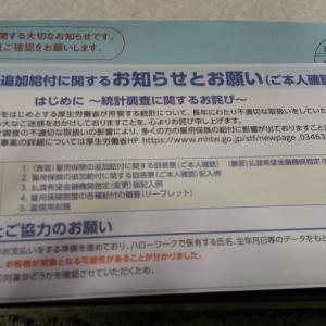 厚生労働省から封書が届いた