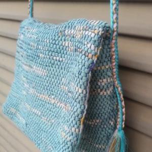 ♪ 生徒さんの作品 裂織りのショルダーバッグ ♪